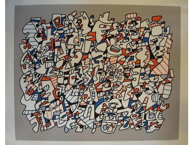 Jean DUBUFFET (1901-1985) : Ontogénèse , lithographie couleur signée