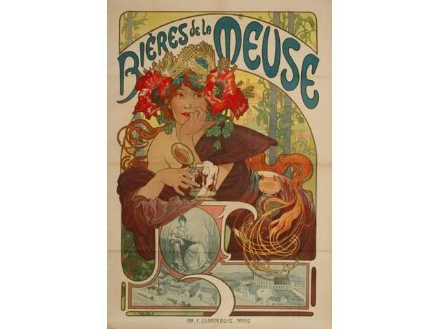 Alphonse MUCHA (1860-1939)  Alfons Maria MUCHA dit  Bières de la