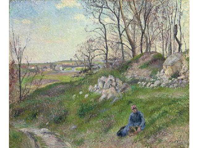 Camille Pissarro 1830-1903 (French) Les carrières du chou, Pontoise,
