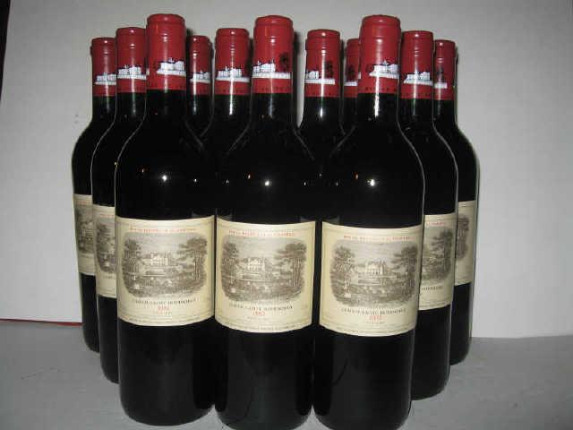 12 bouteilles : CHÂTEAU LAFITE ROTHSCHILD 1992 1er GCC Pauillac (caisse