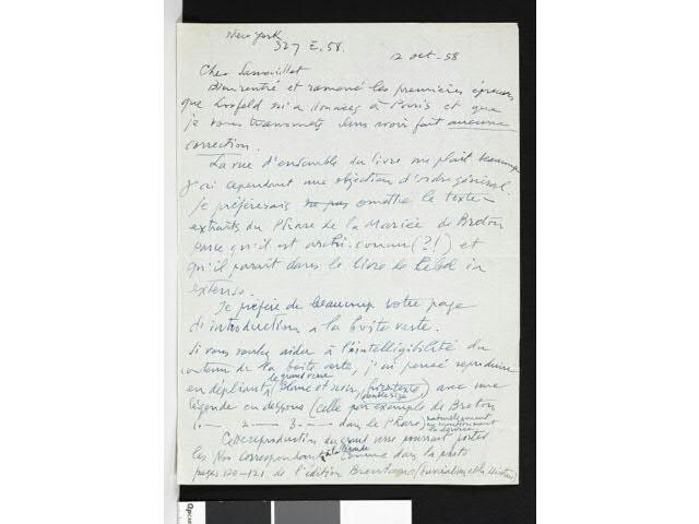 DUCHAMP Marcel. MARCHAND DU SEL. 31 LETTRES AUTOGRAPHES SIGNEES. 3
