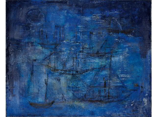 Tableau peinture fond bleu - Tuto peinture abstraite contemporaine ...