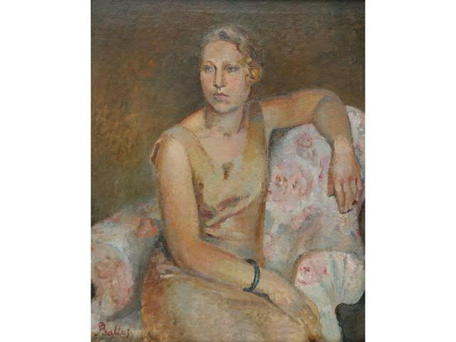 BALTHUS, (1908-2001). « Portrait d Hedwig MULLER, 1928 ». Huile