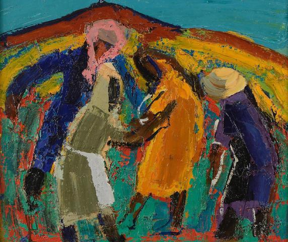 Pierre AMBROGIANI (1907-1985)Femmes aux champs Huile sur toile