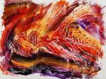 Jean MESSAGIER (1920 - 1999) Le frelon Aquarelle sur papier, signée
