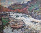 Eugène ALLUAUD (1866-1947)Vallée de la Creuse, huile sur toile