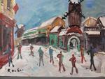 DUBUC Roland, 1924-1998Le moulin de la Galette sous la neige , gouache,