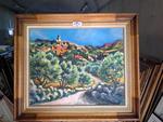 """AMALVY : """"L'OLIVIER"""" Huile sur toile 73 x 60"""