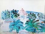 Raoul DUFY (1877-1953) Terrasse et kiosque à musique, circa 1940 Aquarelle,