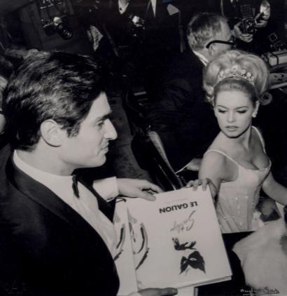 ANDRE SASBrigitte Bardot et Sami Frei Tirage argentique sur papier