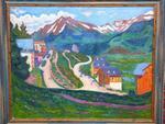 Henri DE SAINT DELIS (1878-1949) Paysage Suisse Huile sur toile