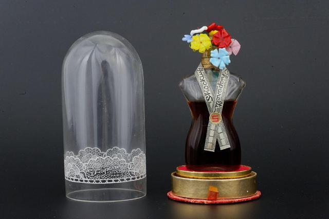 SCHIAPARELLI « Shocking » Flacon en verre représentant le buste