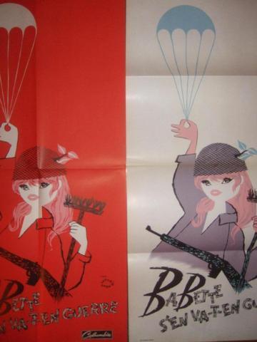 """""""BABETTE S'EN VA-T-EN GUERRE"""" (1959) de Christian Jaque avec Brigitte"""