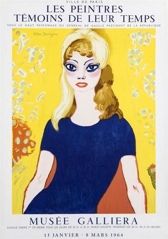 VAN DONGEN Kees Les peintres témoins de leur temps Brigitte Bardot Lithographie