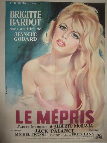 """""""LE MEPRIS"""" (1963) de Jean Luc Godard avec Brigitte Bardot, Michel"""